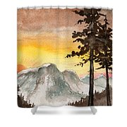 Day's Passing Shower Curtain
