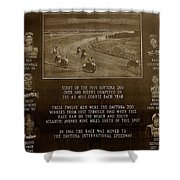 Daytona 200 Plaque Shower Curtain by David Lee Thompson