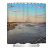 Daytona Beach At Sunset, Florida Shower Curtain