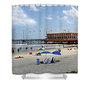 Daytona Beach Pier Shower Curtain
