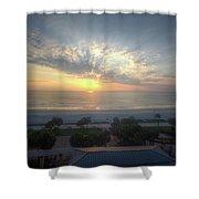 Daytona Beach Sunrise Shower Curtain