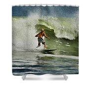 Daytona Beach Surfing Day Shower Curtain