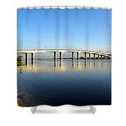 Daytona Beach's Broadway Bridge  Shower Curtain