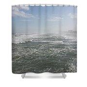Daytona Waves Shower Curtain