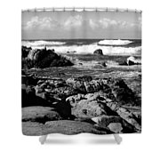 Dazzling Monterey Bay B And W Shower Curtain