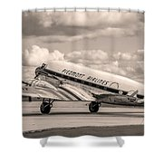 Dc-3 Vintage Look Shower Curtain