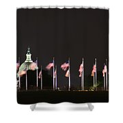 Dc At Night Shower Curtain