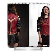Dc Comics Wonder Woman Jacket Shower Curtain