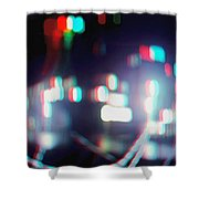 Dc Lights - Use Red-cyan 3d Glasses Shower Curtain
