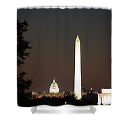 Dc Monuments Triumvirate Shower Curtain