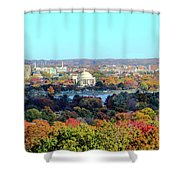 Dc Skyline With Jefferson Memorial Shower Curtain