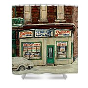 De Bullion Street In  Winter Montreal Shower Curtain