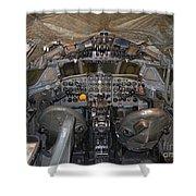 De Havilland Dh106 Comet 4 G Apdb Cockpit Full Size Poster Shower Curtain