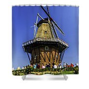 De Zwaan Windmill In Holland Shower Curtain