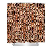 Dead Agave Stump Abstract Shower Curtain