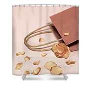 Dead Flower Petals With A Gift, Begonia Shower Curtain