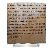 Dead Sea Scroll Document Shower Curtain
