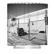 Dead Tires Palm Springs Shower Curtain