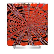 Dead Tree Oval #1 Abstract Shower Curtain
