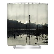 Dead Tree Waters Shower Curtain