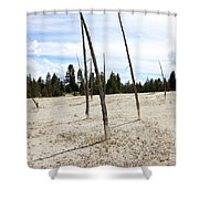 Dead Trees, Yellowstone Shower Curtain
