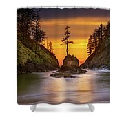 Deadman's Cove At Cape Disappointment State Park Shower Curtain