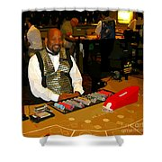 Dealer In Las Vegas Casino Shower Curtain
