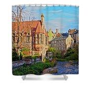 Dean Village, Edinburgh, Scotland Shower Curtain