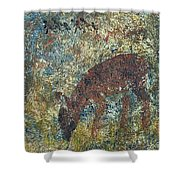 Dear Or Deer Being Hunted Shower Curtain