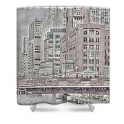 Dearborn Street Bridge Shower Curtain