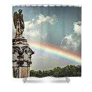 Death And A Rainbow Shower Curtain