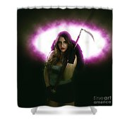 Death Carrying Scythe Shower Curtain