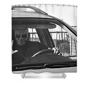 Death Driver Shower Curtain