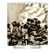 Death In The Time Of The Irish Famine Shower Curtain