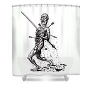 Death March Shower Curtain by Tobey Anderson