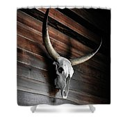 Death Of A Longhorn Shower Curtain