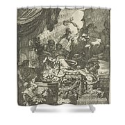 Death Of Dido, Gerard De Lairesse, 1668 Shower Curtain