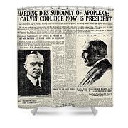 Death Of Harding, 1923 Shower Curtain