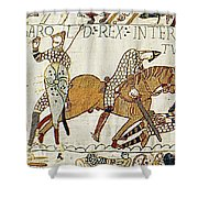 Death Of Harold, Bayeux Tapestry Shower Curtain