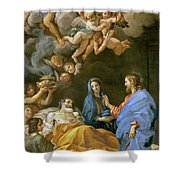 Death Of Saint Joseph Shower Curtain