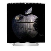 Death Star Apple Shower Curtain