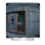 Death Stars Back Door Shower Curtain by Artist Orange
