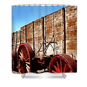 Death Valley Borax Wagons Shower Curtain