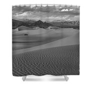 Death Valley Dunes Black And White Shower Curtain