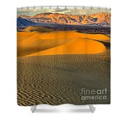 Death Valley Golden Hour Shower Curtain