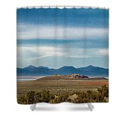 Death Valley Pano Shower Curtain