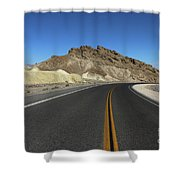 Death Valley Road Through The Badlands Shower Curtain
