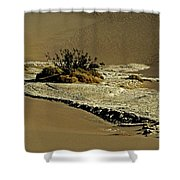 Death Valley Salt Shower Curtain