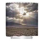 Death Valley Sun Burst Shower Curtain