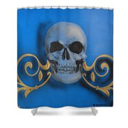 Death With A Flourish Shower Curtain
